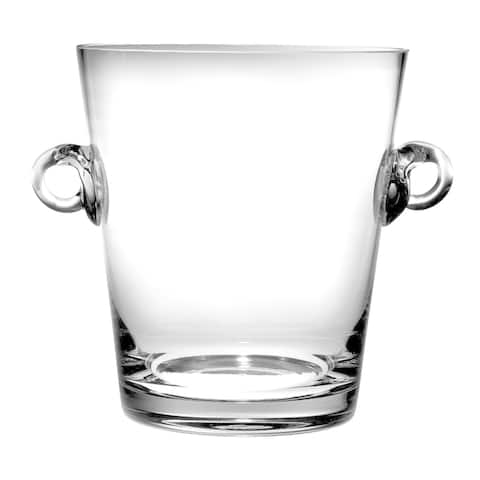 """Majestic Gifts European High Quality Glass Ice Bucket/ Wine Cooler W/ 2 Handles-9.25"""" Height"""