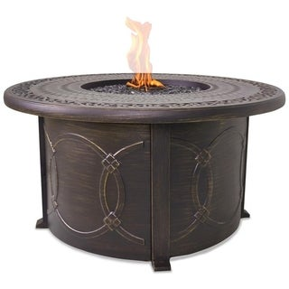 LP Gas Outdoor Fire Table with Cast Aluminum Mantel