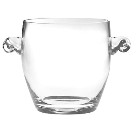 """Majestic Gifts European High Quality Glass Ice Bucket/ Wine Cooler W/ 2 Handles-9"""" Height"""