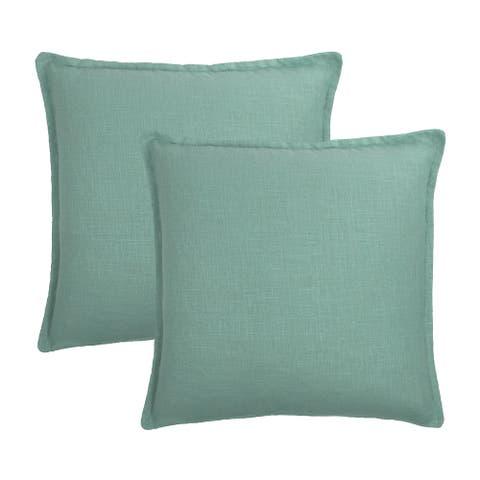 Sherry Kline Frisco Linen Mint Reversible 20-inch Decorative pillow (set of 2)