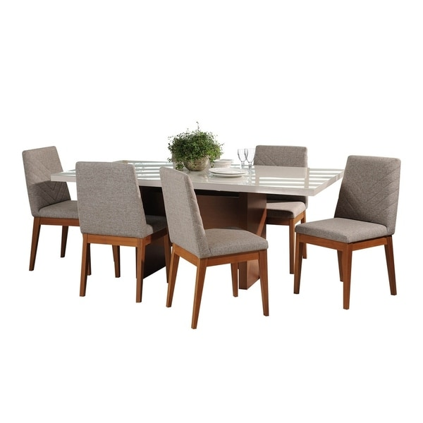 7-Piece Dover 72.04 In. Table Catherine Dining Set with 6 Dining Chairs