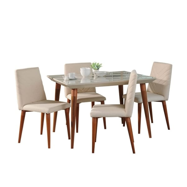 5-Piece Utopia 47.24 In. Dining Set with 4 Dining Chairs