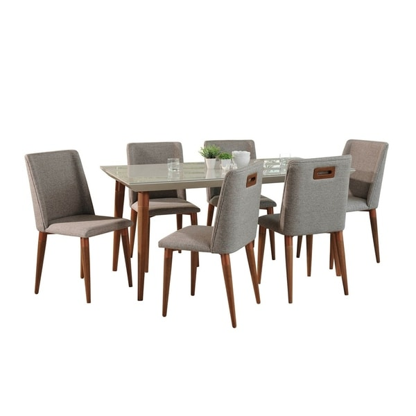 7-Piece Utopia 70.86 In. Table Tampa Dining Set with 6 Dining Chairs
