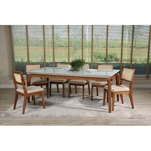 7-Piece Payson 82.67 In. Table Pell 2.0 Dining Set with 6 Dining Chairs