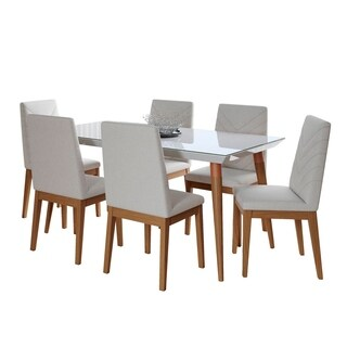7-Piece Utopia 62.99 In. Table Catherine Dining Set with 6 Dining Chairs