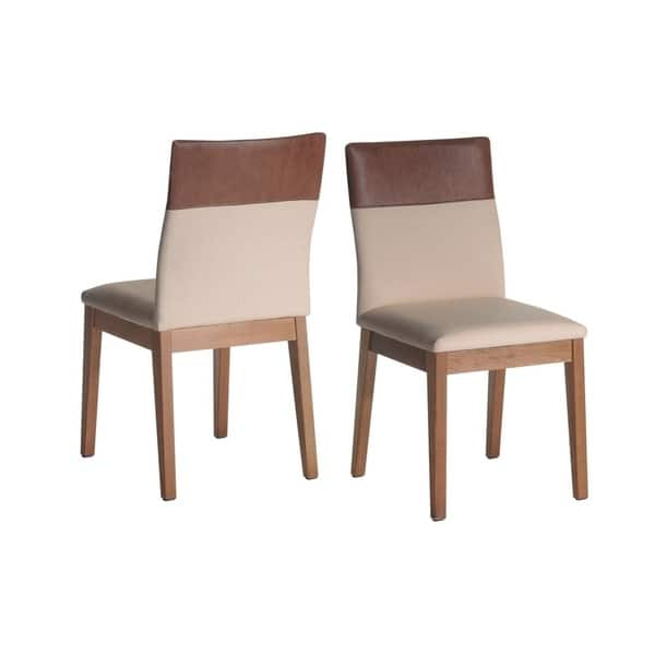 Awesome Shop Manhattan Comfort Duke Faux Leather Upholstered Dining Machost Co Dining Chair Design Ideas Machostcouk