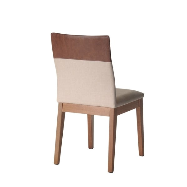 Manhattan Comfort Duke Faux Leather Upholstered Dining