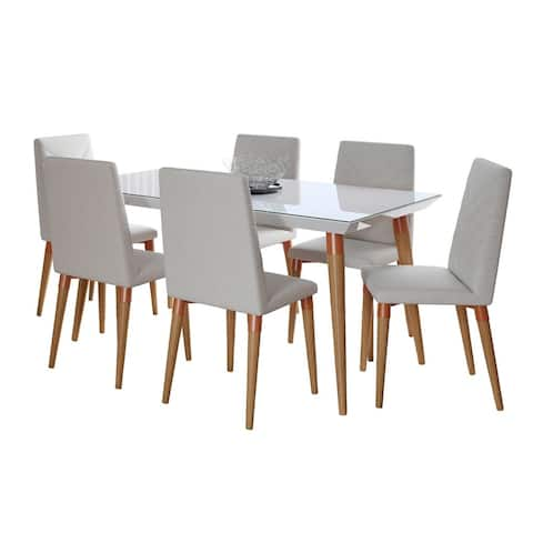 7-Piece Utopia 62.99 In. Dining Set with 6 Dining Chairs