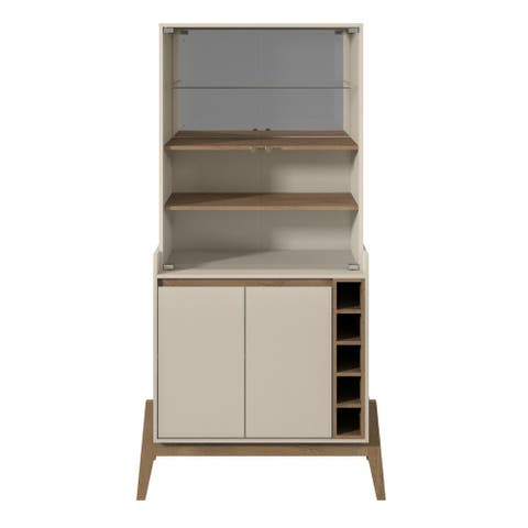 Manhattan Comfort Essence 5-Bottle Wine Cabinet with 6 Shelves in Off White