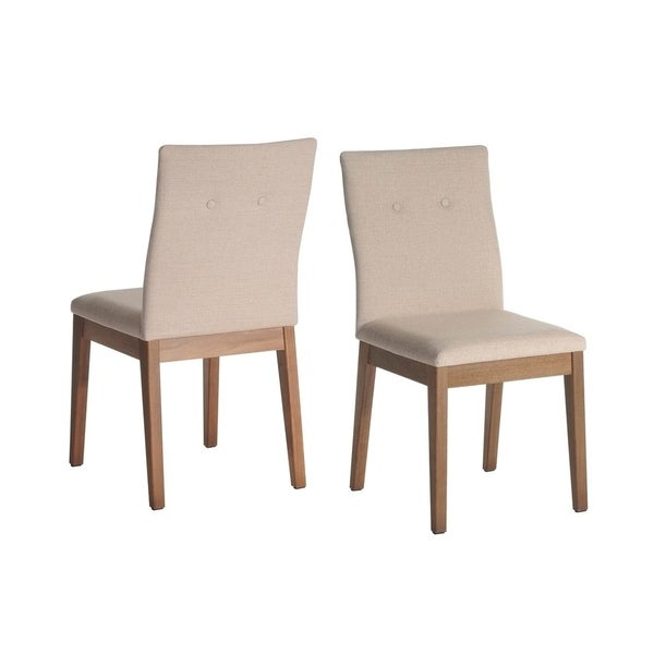 Manhattan Comfort Leroy Mid Century Upholstered Dining Room Chair Set of 2