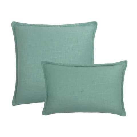 Sherry Kline Frisco Linen Mint Reversible Combo Pillow