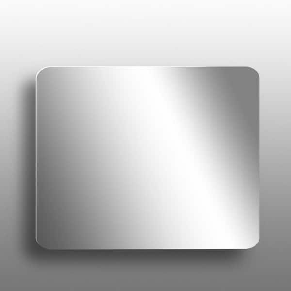 Latoscana Modern Rectangular Wall Mirror Chrome
