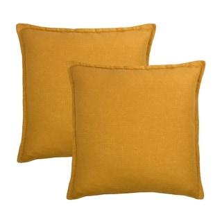 Sherry Kline Frisco Linen Amber Reversible 20-inch Decorative pillow (set of 2)