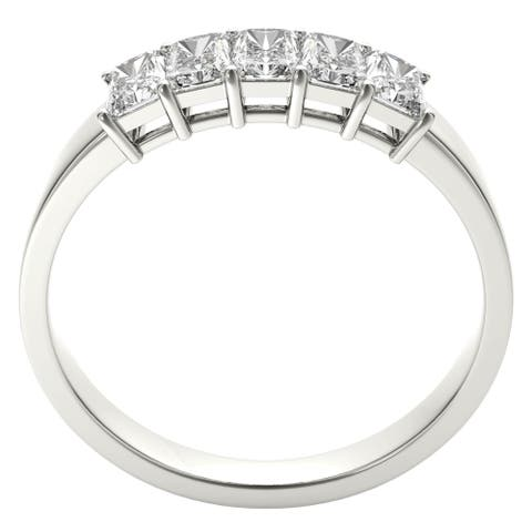 Seraphina Platinum 1ct TDW 5-stone Radiant Cut Diamond Ring