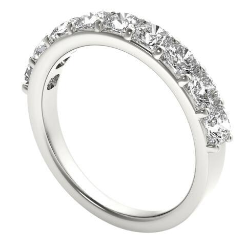 Seraphina Platinum 2ct TDW 9-stone Cushion Cut Diamond Ring