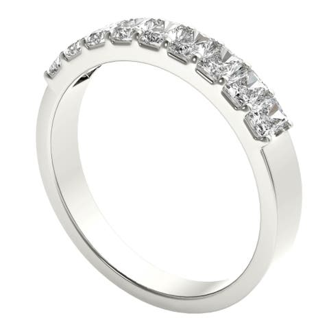 Seraphina Platinum 1ct TDW 9-stone Radiant Cut Diamond Ring