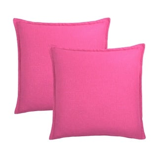Sherry Kline Frisco Linen Pink Reversible 20-inch Decorative pillow (set of 2)