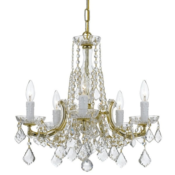 elight DESIGN Traditional 5-light Gold Chandelier