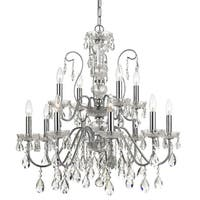 elight DESIGN Traditional 12-light Chrome Chandelier