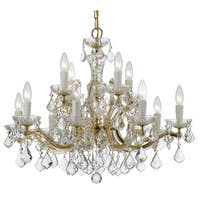 elight DESIGN Transitional 12-light Gold Chandelier