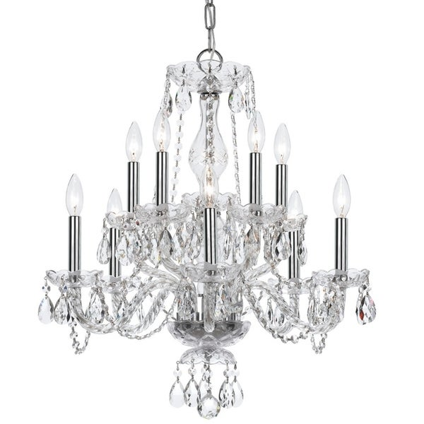 elight DESIGN Traditional 10-light Chrome Chandelier