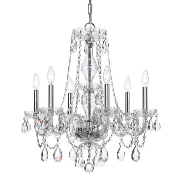 elight DESIGN Traditional 6-light Chrome Chandelier
