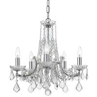 elight DESIGN Traditional 5-light Chrome Chandelier