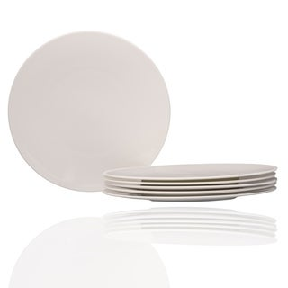 "Extreme White Round Dinner Plate 10.75"" Set of 6"