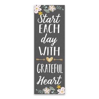 """""""Start Each Day With A Grateful Heart"""" Printed Canvas - 12W x 36H x 1.25D"""