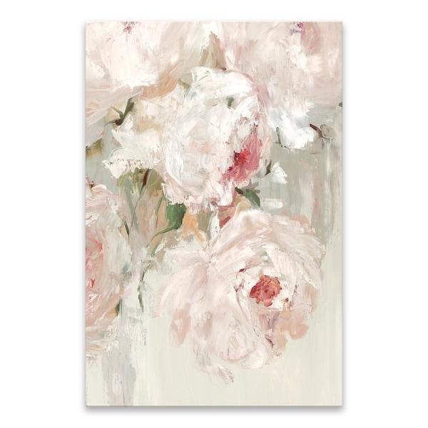 """Big Bouquette I"" Hand Embellished Canvas - 24W x 36H x 1.25D - Multi-color"