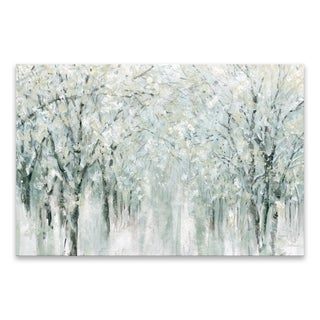 """Winter Mist"" Hand Embellished Canvas - 36W x 24H x 1.25D - Multi-color"