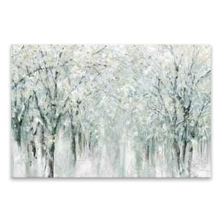 """""""Winter Mist"""" Hand Embellished Canvas - 36W x 24H x 1.25D - Multi-color"""