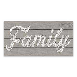 """""""Family Grey"""" Printed Canvas - 24W x 12H x 1.25D - Multi-color"""