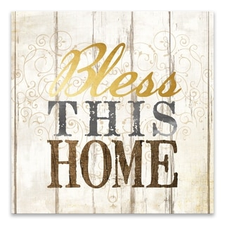"""""""Bless This Home"""" Printed Canvas - 18W x 18H x 1.25D - Multi-color"""