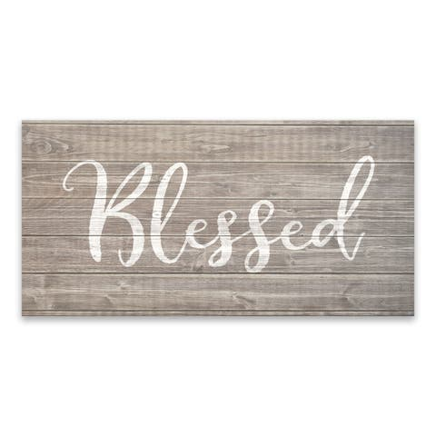 """Blessed"" Printed Canvas - 24W x 12H x 1.25D - Multi-color"