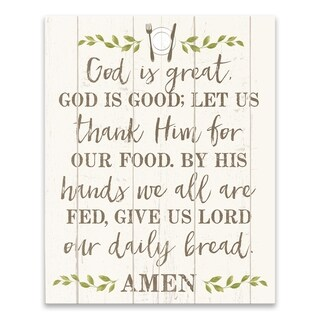 """""""God is Great"""" Printed Canvas - 16W x 20H x 1.25D - Multi-color"""