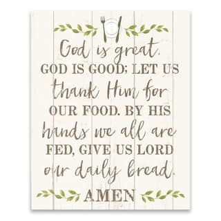 """God is Great"" Printed Canvas - 16W x 20H x 1.25D - Multi-color"
