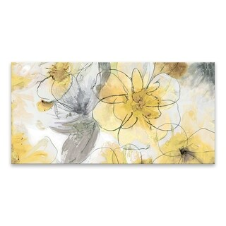 """Pretty in Yellow"" Printed Canvas - 40W x 20H x 1.25D"