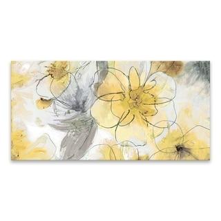 """Pretty in Yellow"" Printed Canvas - 40W x 20H x 1.25D - Multi-color"