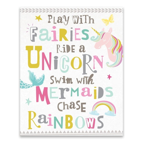 """""""You Play With Fairies"""" Printed Canvas - 16W x 20H x 1.25D - Multi-color"""