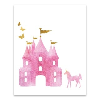 """Dreamy Castle"" Printed Canvas - 16W x 20H x 1.25D - Multi-color"