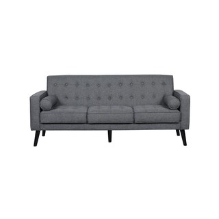 Valadez Mid Century Linen Tufted Sofa