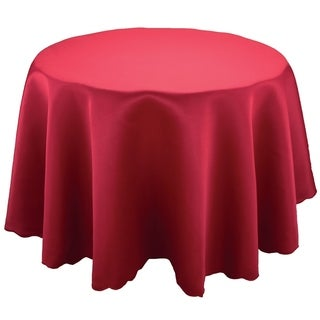 Samantha Round Solid Color Tablecloth, 70-Inch, Red