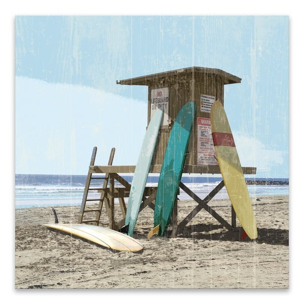 """""""Surfboards 2"""" Printed Canvas - 35W x 35H x 1.5D - Multi-color"""