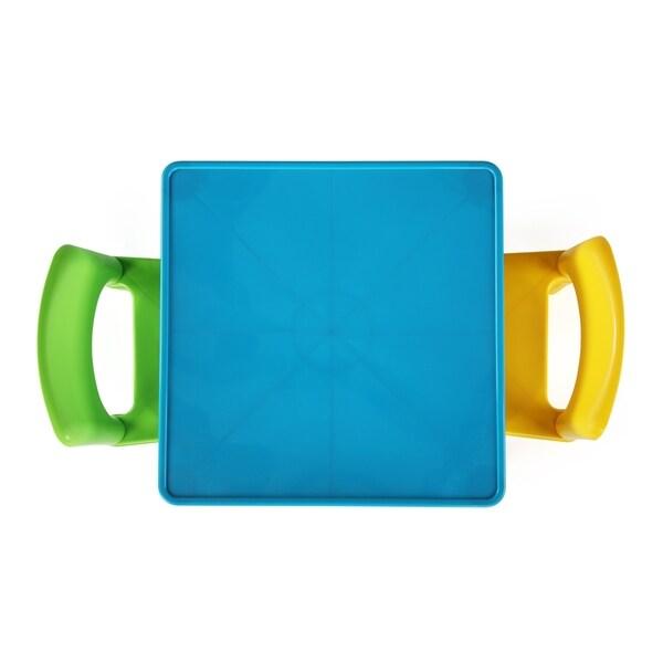 Aqua//Green/&Yellow Tot Tutors TC800 Kids Table and 2 Chairs Set