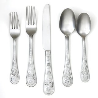 Cambridge Silversmiths 20 Piece Seaside Satin Flatware Set
