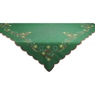 Magical Christmas  Collection Table Topper, 34by 34-Inch, Set of 4