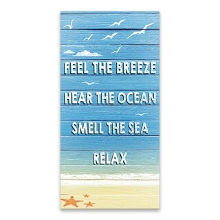 """""""Feel The Breeze"""" Printed Canvas - 12W x 24H x 1.25D - Multi-color"""