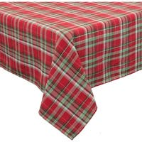 Holiday Tartan Christmas Tablecloth, 60 by 84-Inch