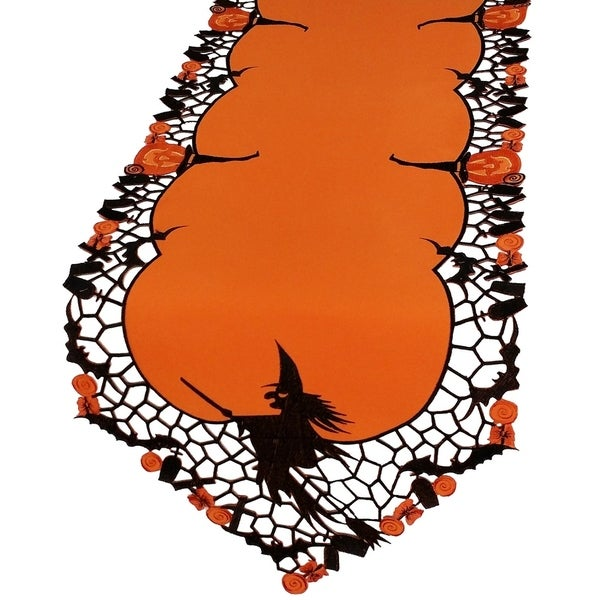 Witch Embroidered Cutwork Halloween Table Runner, 15 by 54-Inch. Opens flyout.